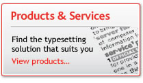 View our XML Typesetting Products & Services